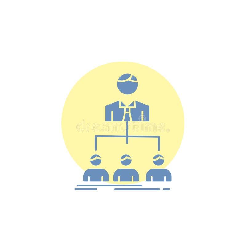 команда, сыгранность, организация, группа, значок глифа компании иллюстрация вектора