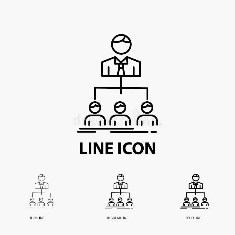 команда, сыгранность, организация, группа, значок компании в тонкой, регулярной и смелой линии стиле r иллюстрация штока