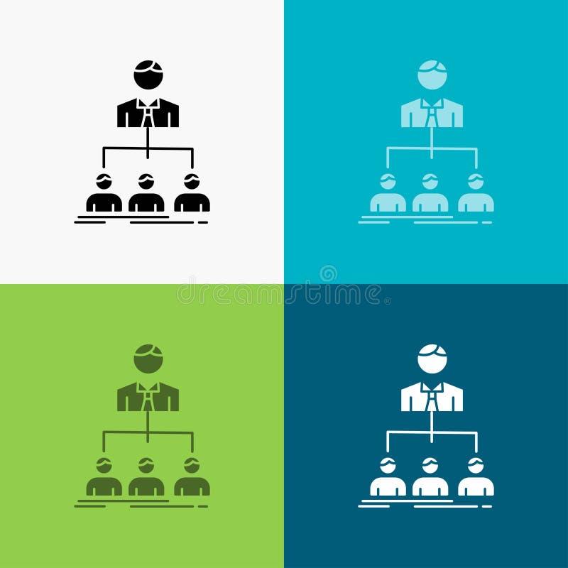 команда, сыгранность, организация, группа, значок компании над различной предпосылкой r 10 eps иллюстрация штока