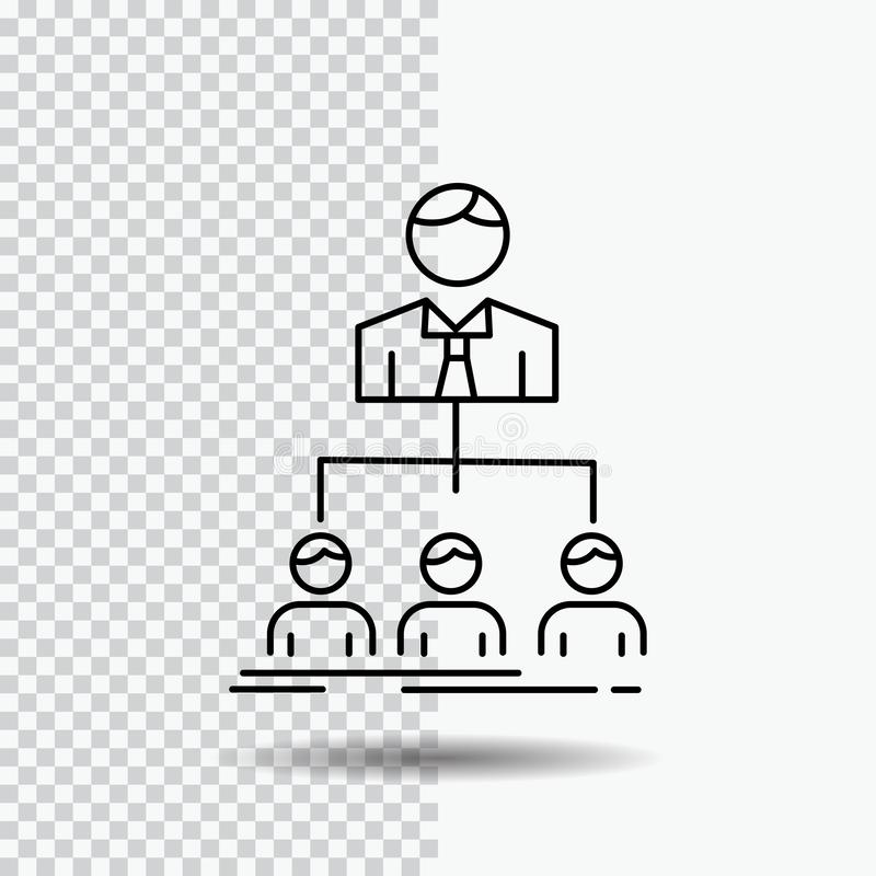 команда, сыгранность, организация, группа, линия значок компании на прозрачной предпосылке r бесплатная иллюстрация