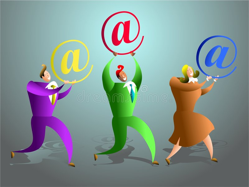 команда электронной почты иллюстрация вектора