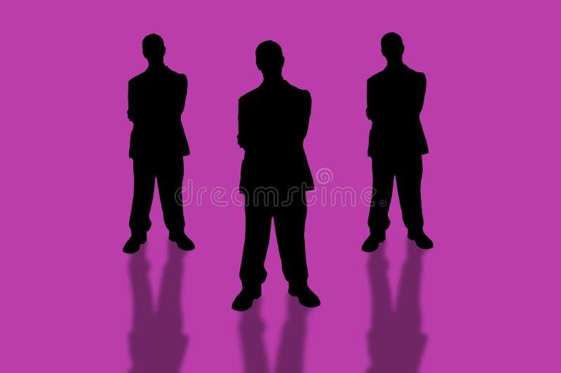 команда 3 дел иллюстрация вектора