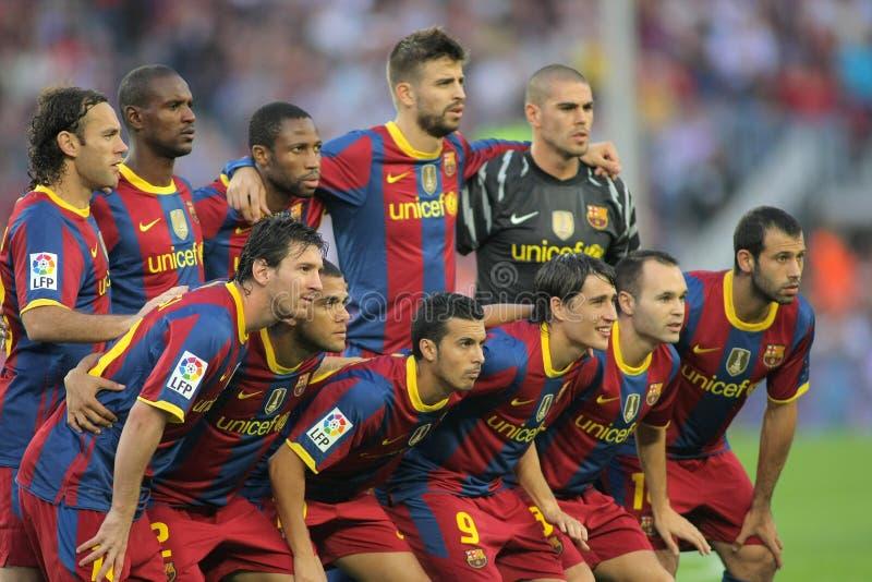 команда futbol клуба barcelona стоковое фото