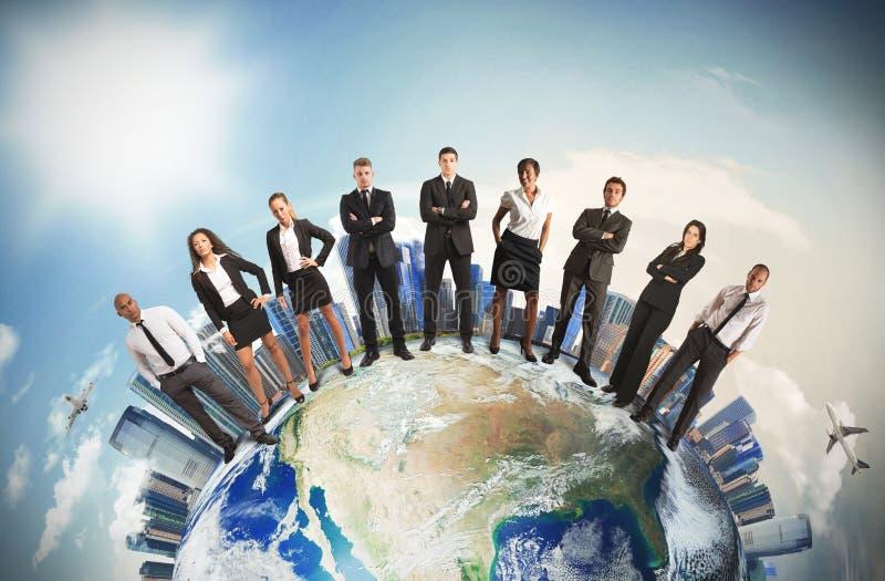 Команда глобального бизнеса стоковая фотография rf