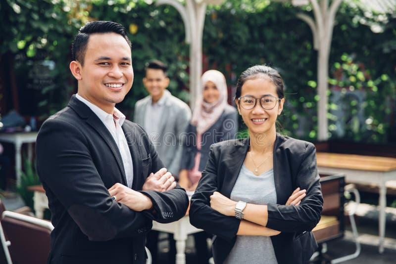 Команда дела портрета азиатская стоковая фотография