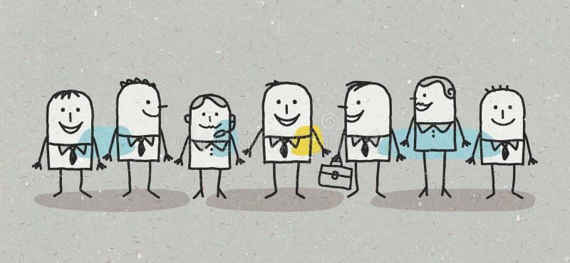 Команда дела людей и женщин иллюстрация вектора