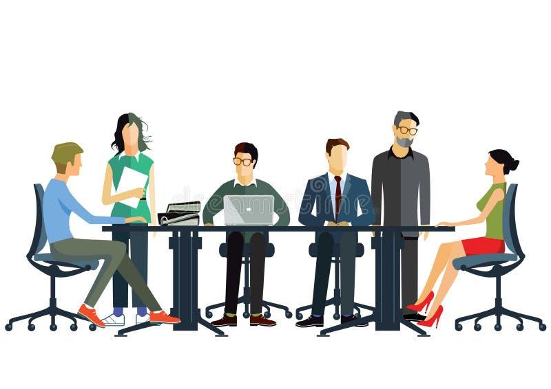 команда деловой встречи бесплатная иллюстрация