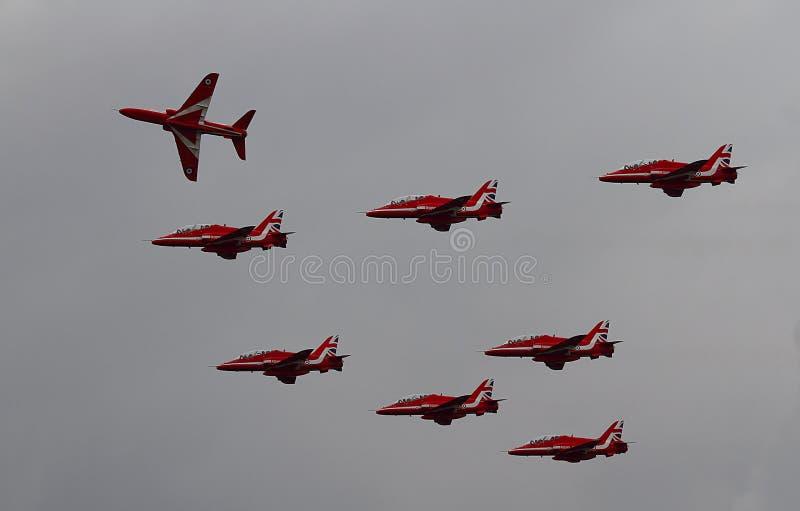 Команда дисплея стрелок RAF красная стоковое фото