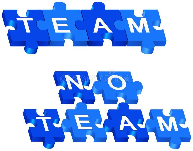 Команда и отсутствие команда иллюстрация вектора