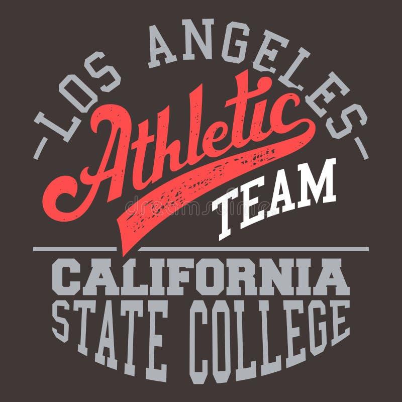 Команда Калифорнии атлетическая бесплатная иллюстрация