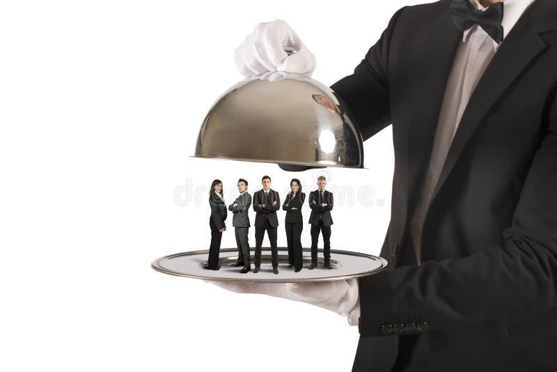 Команда обслуживания предприятий и первого класса стоковые фото