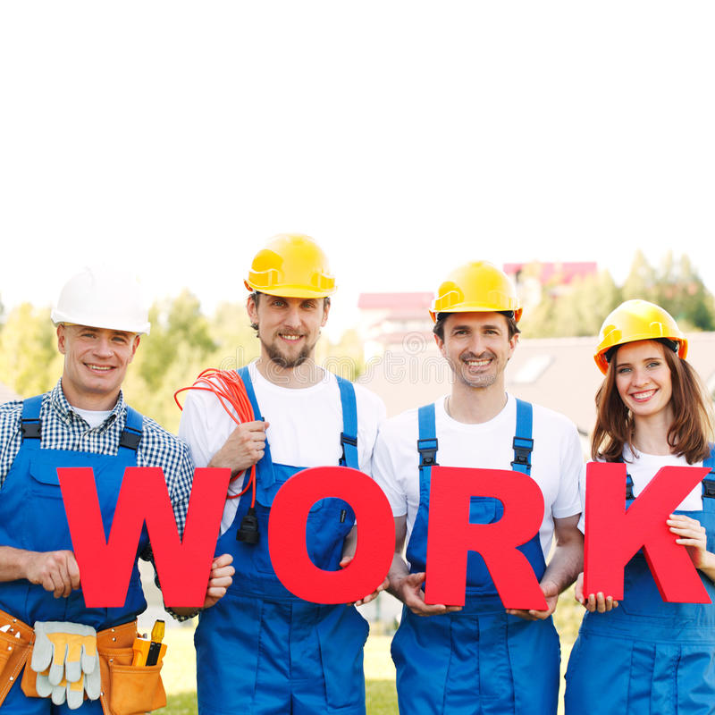 Команда работников стоковое изображение rf