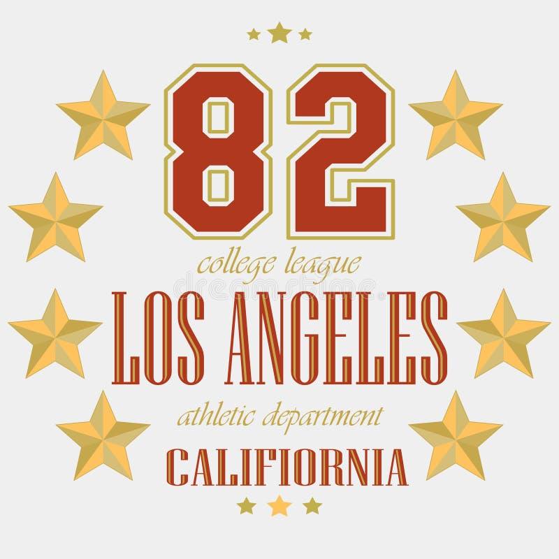 Команда спорта Лос-Анджелеса футболки иллюстрация штока