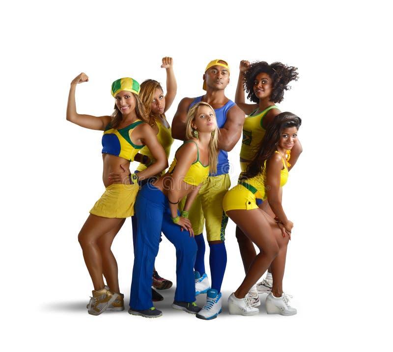 Команда спортзала стоковое изображение rf