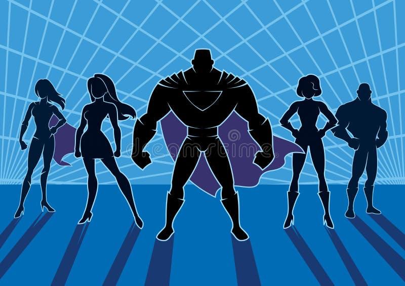 Команда 2 супергероя иллюстрация вектора
