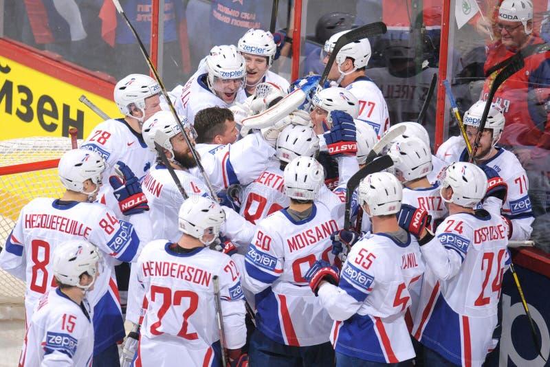 Команда хоккея на льде Франции стоковые фото