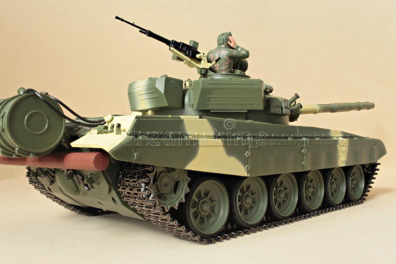 Командир в башенке танка стоковое изображение rf