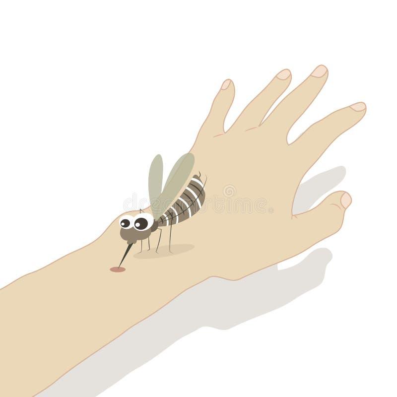 Комариные укусы иллюстрация штока