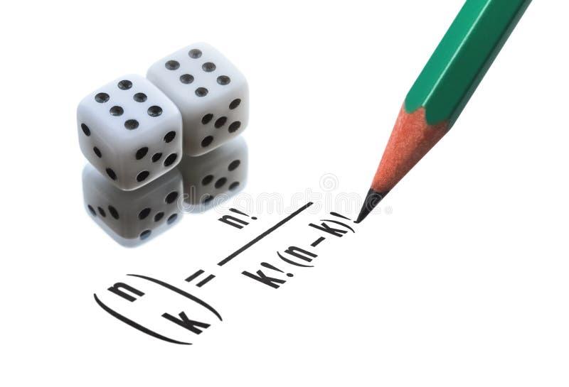 Комбинаторика и вероятность стоковое фото