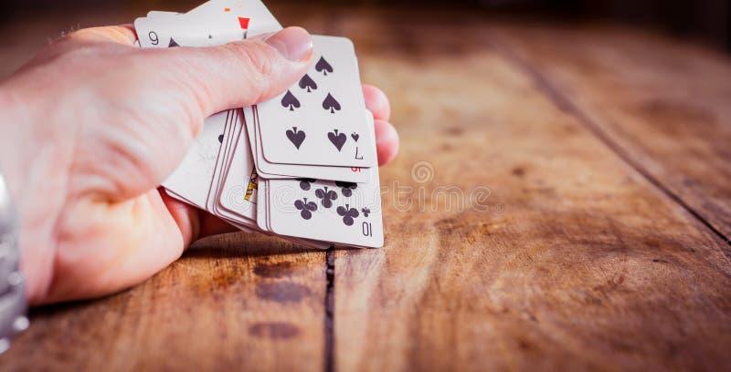Комбинация игровых карт| Лицо покера| Карты для рук| Игры и азартные игры стоковые фотографии rf