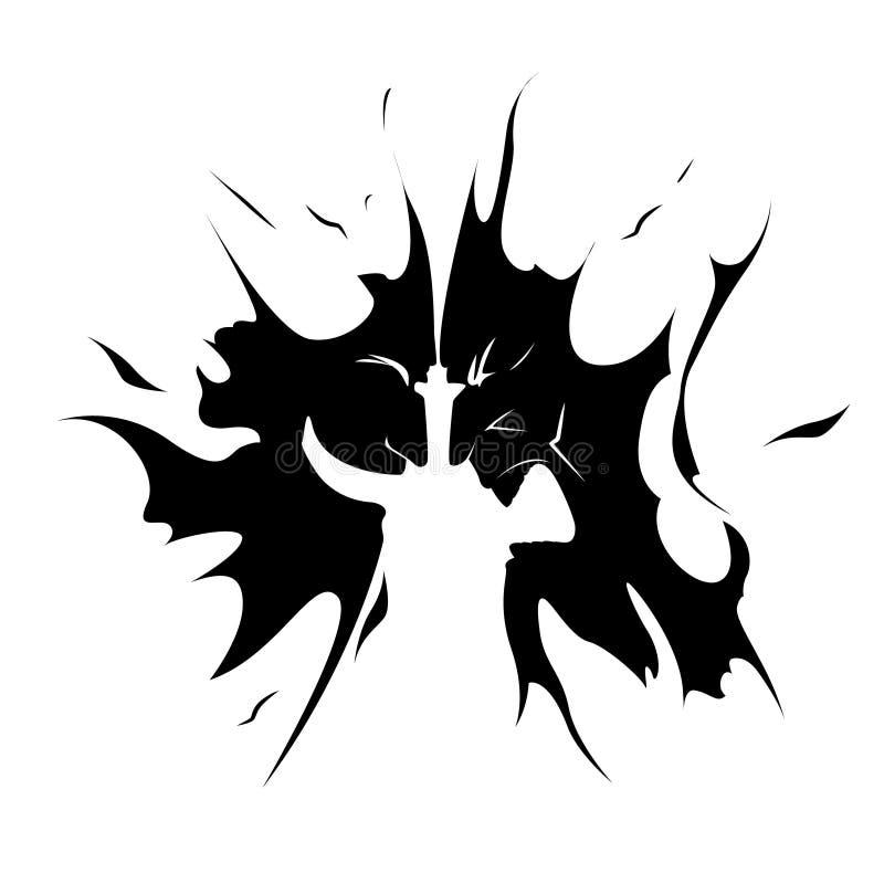 Комедия и злие театральные маски, стороны, значок бесплатная иллюстрация