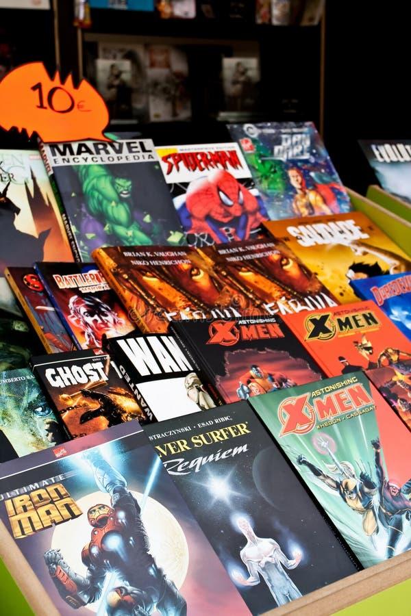 Комиксы чуда книжной ярмарки Лиссабона стоковая фотография rf