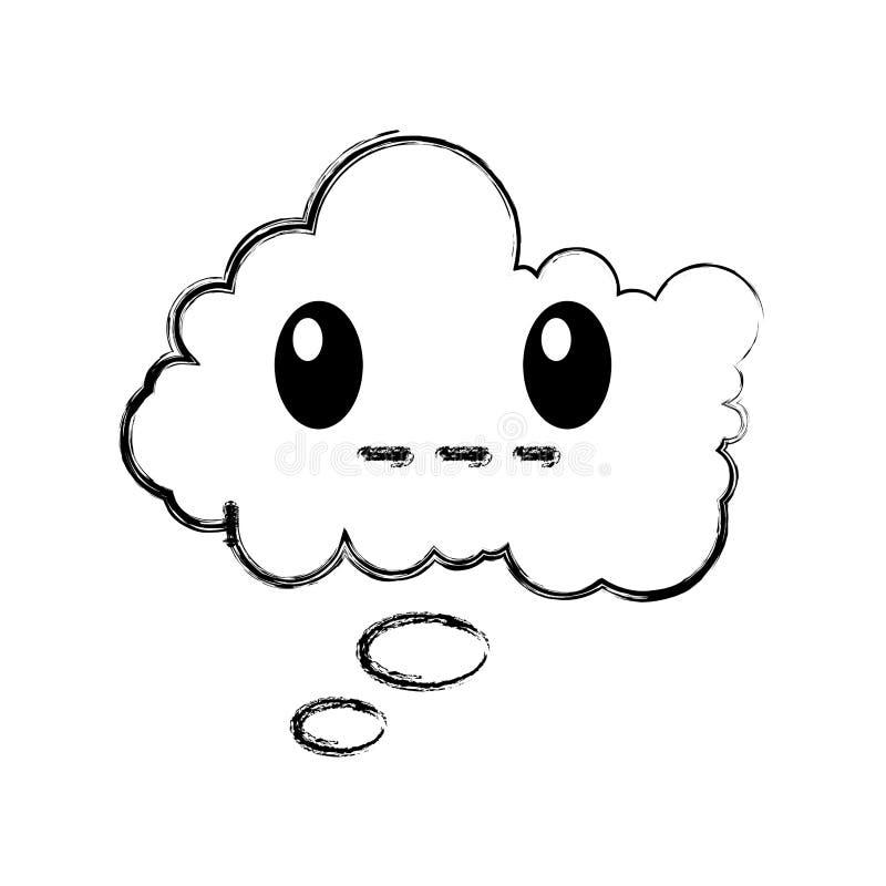 Комический персонаж пузыря речи молчаливый иллюстрация вектора