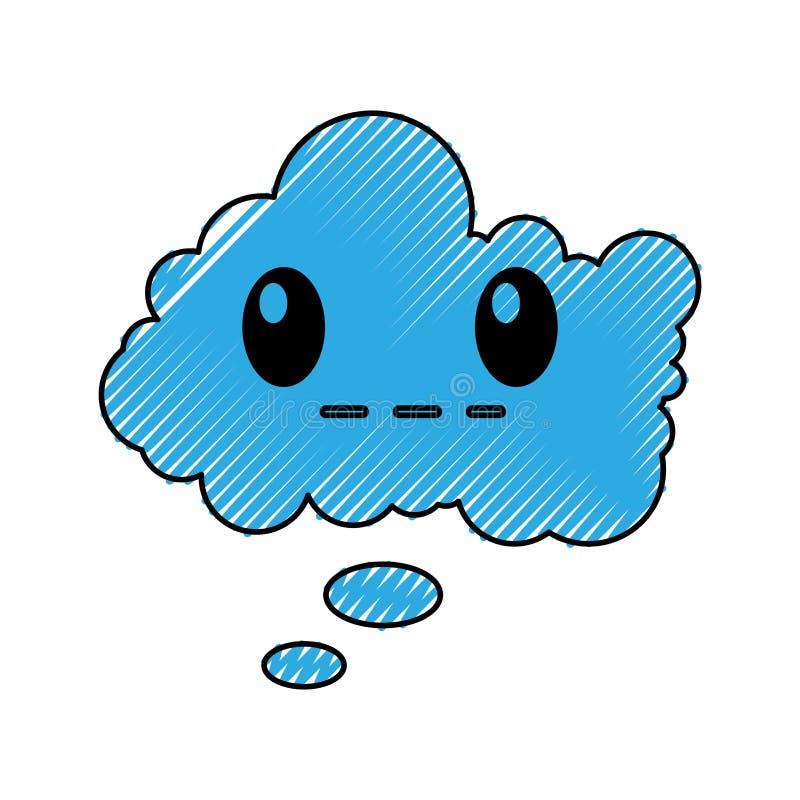 Комический персонаж пузыря речи молчаливый иллюстрация штока