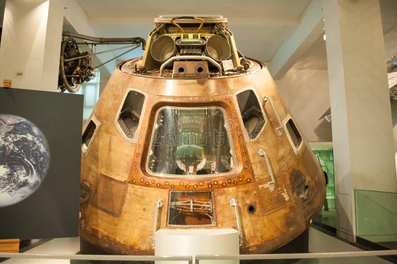 Коммандный модуль Аполлона 10 в науке Londons стоковая фотография rf