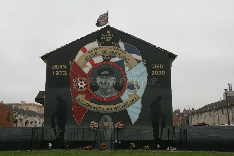 Коммеморативная настенная роспись Стефана McKeag, Белфаста. стоковая фотография