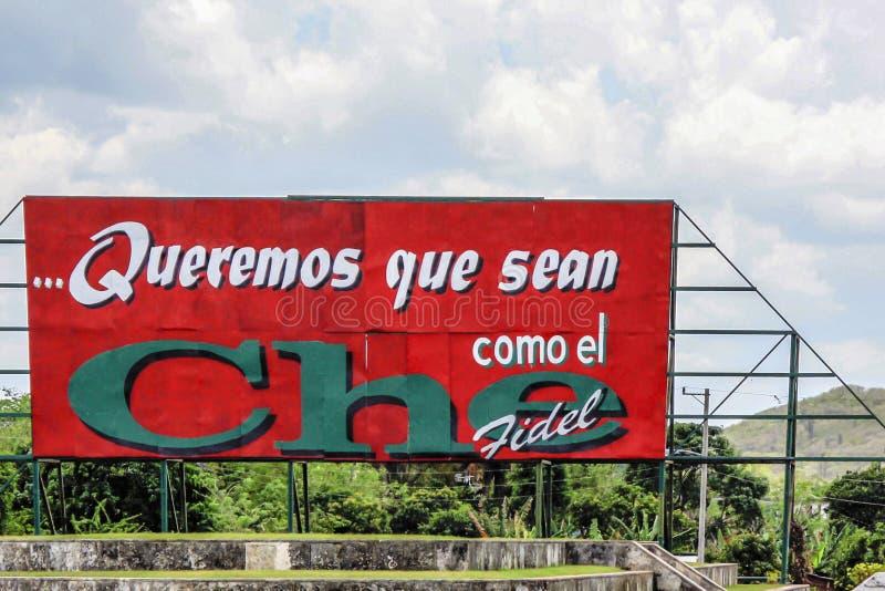 Коммеморативный знак Фиделя Кастро и Че Гевара стоковое изображение