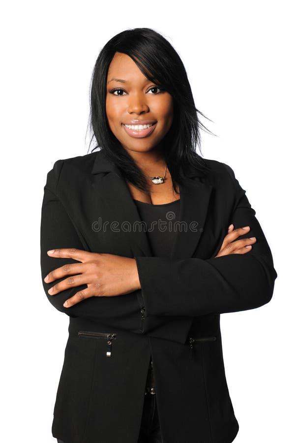 коммерсантка афроамериканца стоковая фотография rf