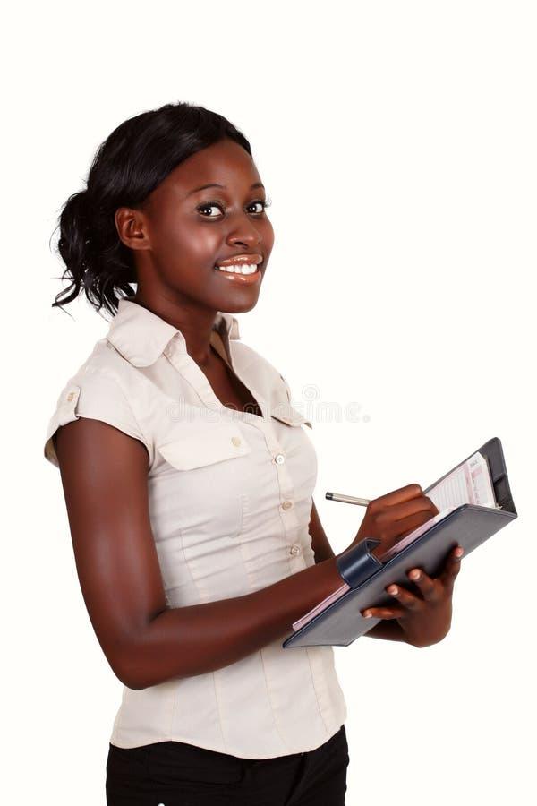 Download коммерсантка афроамериканца Стоковое Фото - изображение насчитывающей свеже, дневник: 18393252