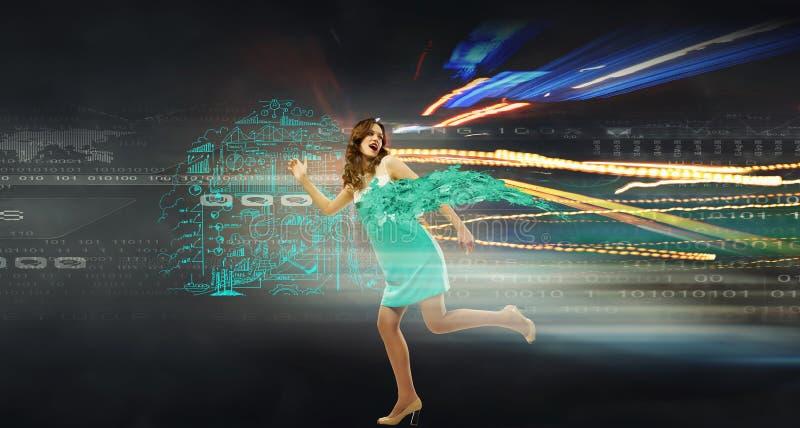 Коммерсантка высшей скорости стоковое изображение