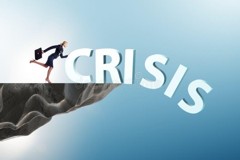 Коммерсантка в концепции антикризисного управления стоковая фотография rf