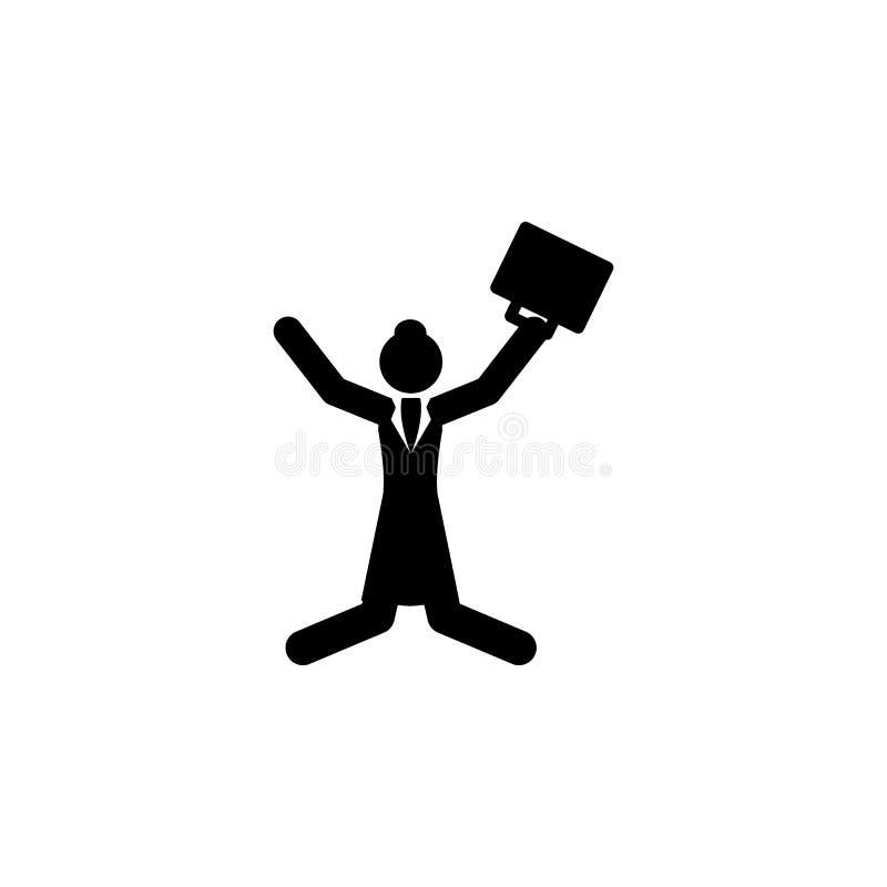 коммерсантка, значок скачки Элемент значка коммерсантки Наградной качественный значок графического дизайна Знаки и значок fo собр иллюстрация штока
