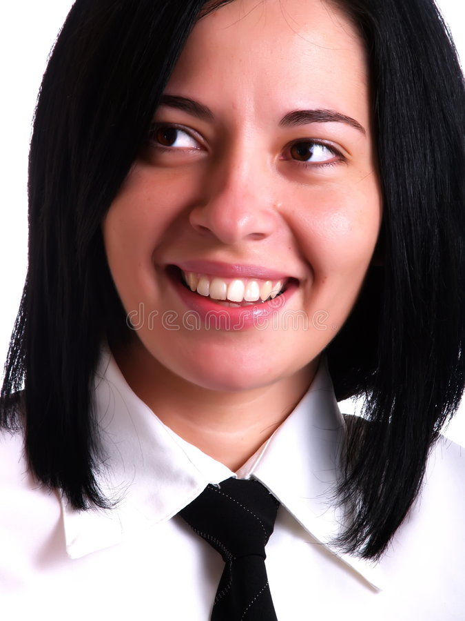 коммерсантка счастливая стоковая фотография rf