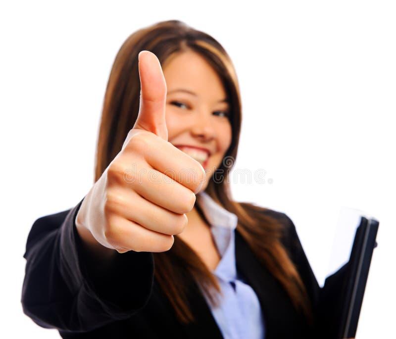 Download Коммерсантка с большими пальцами руки вверх Стоковое Изображение - изображение насчитывающей устремленности, консультант: 17621737