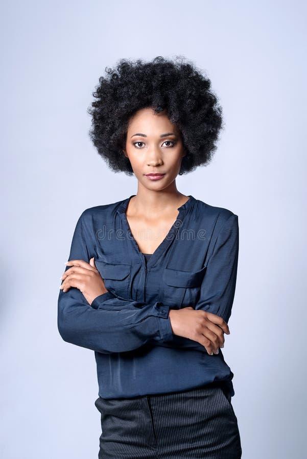 Коммерсантка чёрного африканца стоковые фотографии rf
