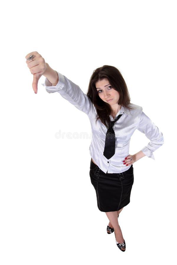 коммерсантки большие пальцы руки вниз стоковые изображения rf