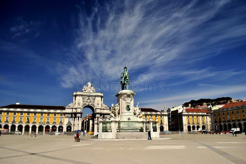 Коммерция Квадрат-Лиссабон Португалия стоковое фото