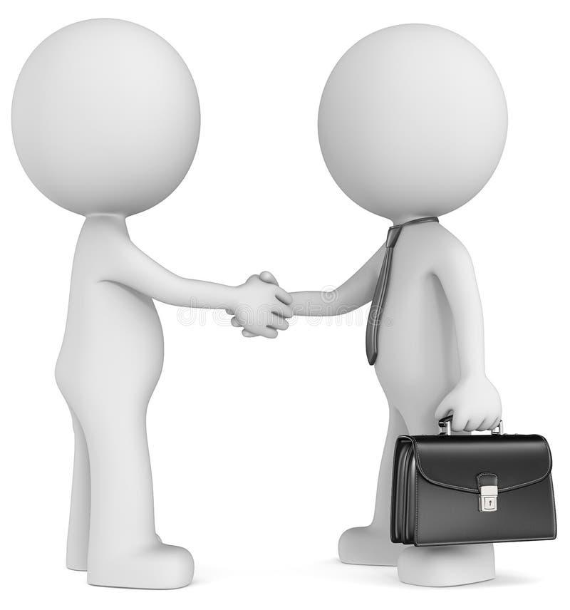 Коммерческая сделка иллюстрация вектора