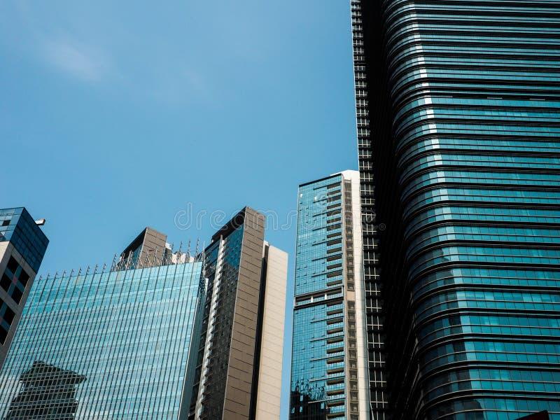 Коммерчески деловой район в городском пейзаже стоковая фотография
