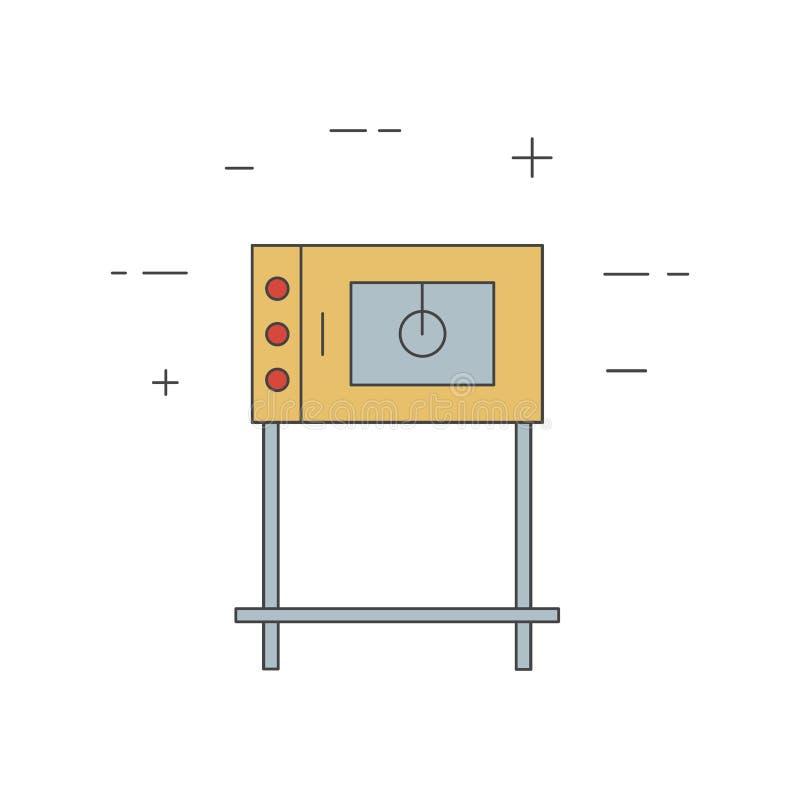 Коммерчески линия значок печи изолированный на белой предпосылке бесплатная иллюстрация