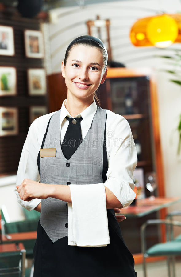 коммерчески официантка девушки стоковые изображения