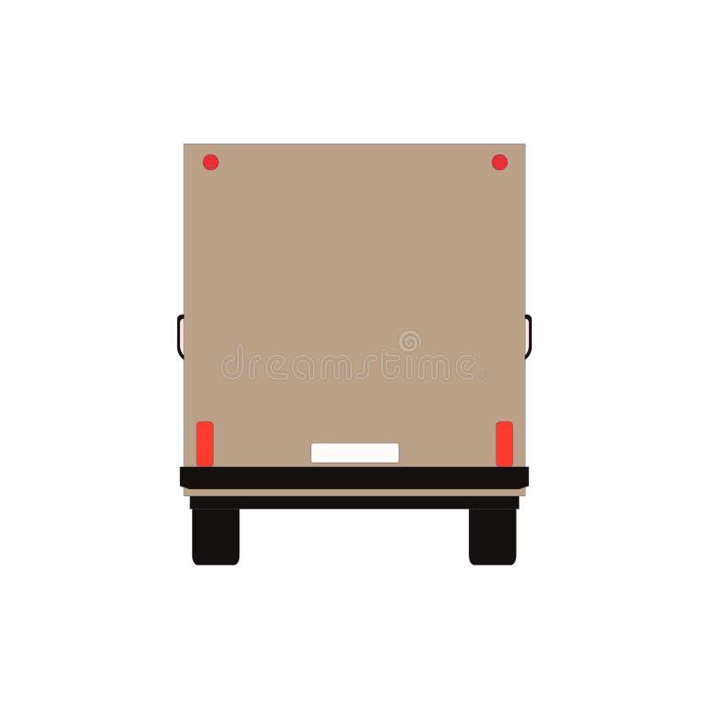 Коммерчески поставка Van, тележка груза изолированная на белизне также вектор иллюстрации притяжки corel бесплатная иллюстрация