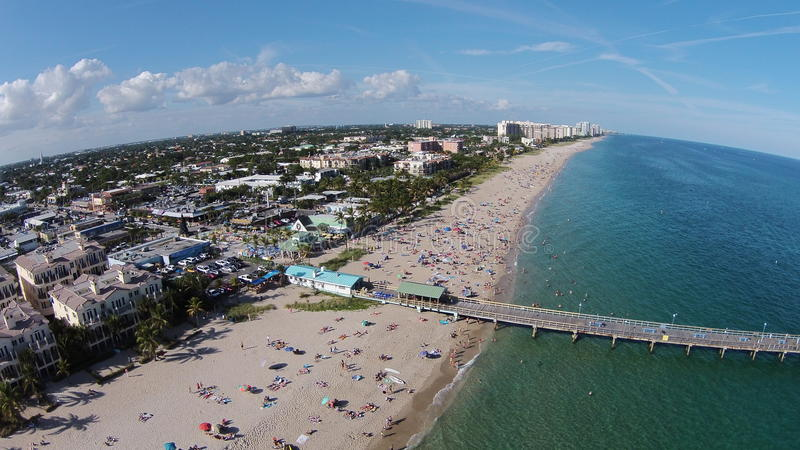 Коммерчески пристань Lauderdale бульвара морем стоковая фотография rf