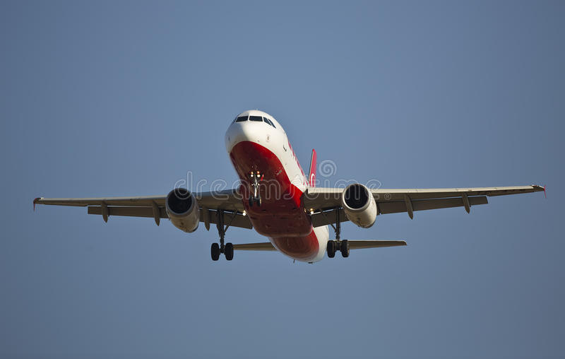 Коммерчески самолет стоковое изображение rf