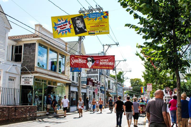 Коммерчески улица, Provincetown, МАМЫ стоковые фото