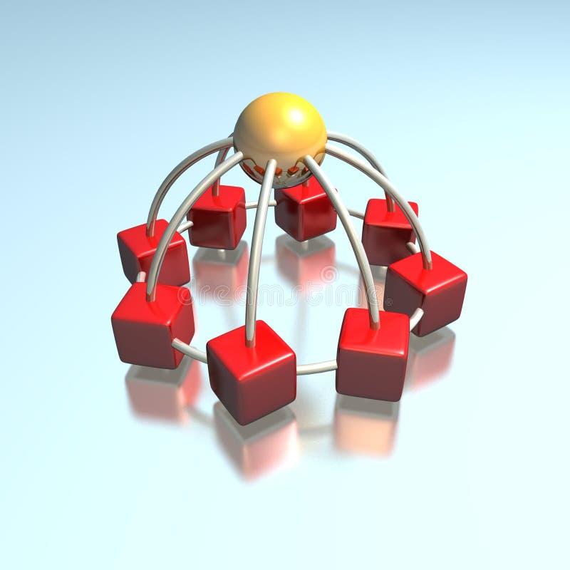 коммуникационная сеть 3d иллюстрация штока